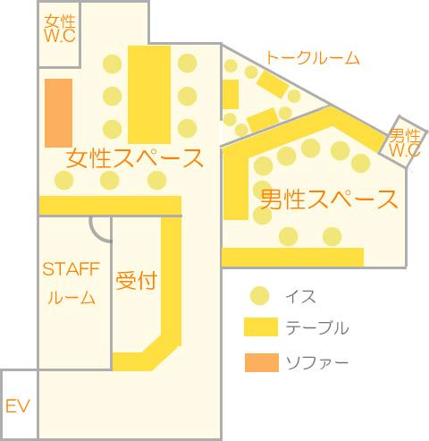 店内の見取り図